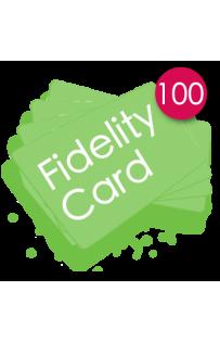 100 Carte fedeltà PVC