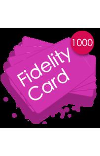 1000 Carte fedeltà PVC
