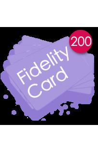 200 Carte fedeltà PVC