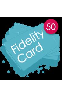 50 Carte fedeltà PVC