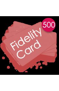 500 Carte fedeltà PVC